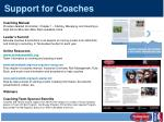 support for coaches