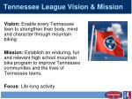 tennessee league vision mission