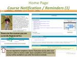 home page course notification reminders 1