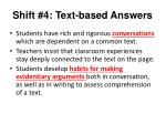 shift 4 text based answers