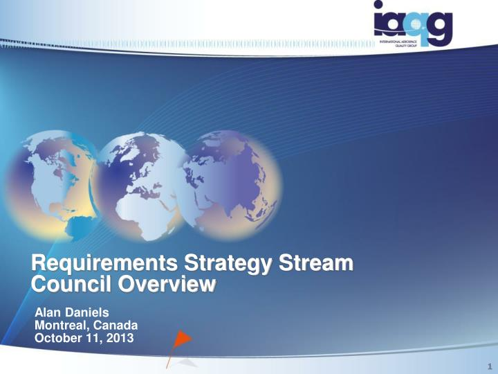 requirements strategy stream council overview n.