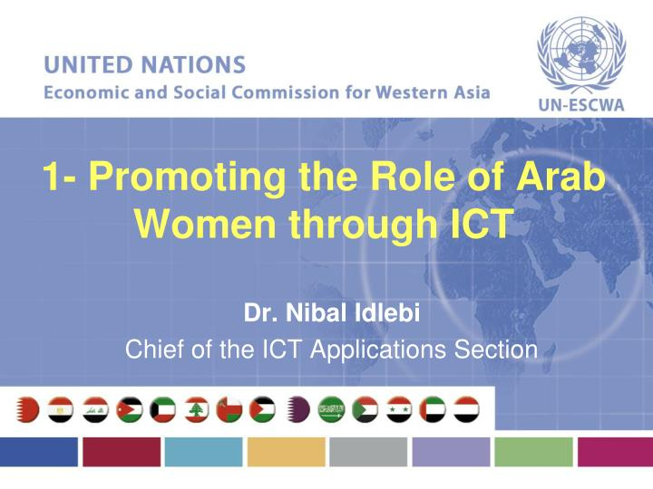 1 promoting the role of arab women through ict n.