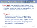 example women and e services e government