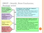 swot identify draw conclusions strategic action