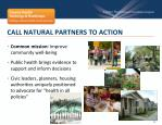 call natural partners to action