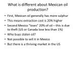 what is different about mexican oil production