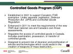 controlled goods program cgp
