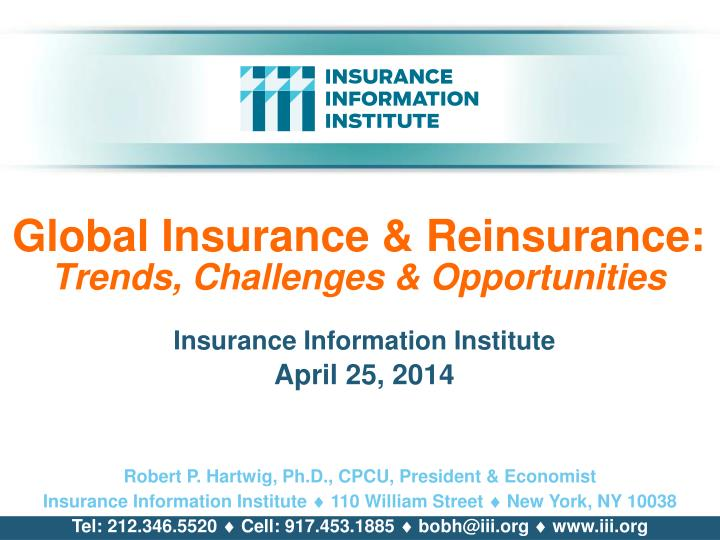 global insurance reinsurance trends challenges opportunities n.