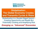 globalization the global economy creates and transmits cycles risks