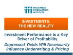 investments the new reality