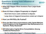 questions arising from influence of alternative capital1