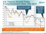 u s treasury security yields a long downward trend 1990 2014