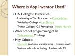where is app inventor used