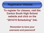 registration website