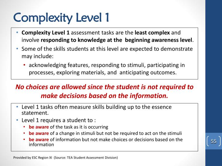 Complexity Level 1