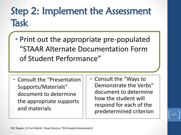 Step 2: Implement the Assessment Task