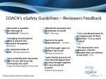 coach s esafety guidelines reviewers feedback