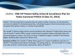 esafety onc hit patient safety action surveillance plan for public comment fy2013 15 dec 21 2012