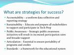what are strategies for success