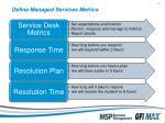define managed services metrics