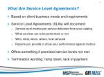 what are service level agreements