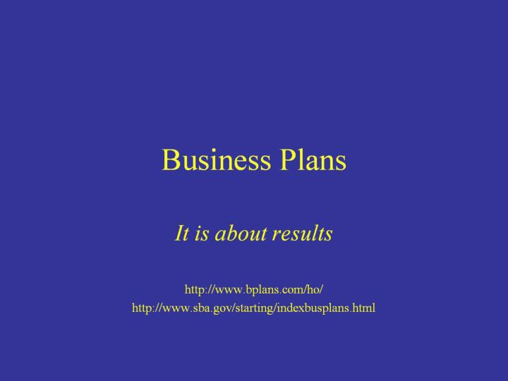 business plans n.