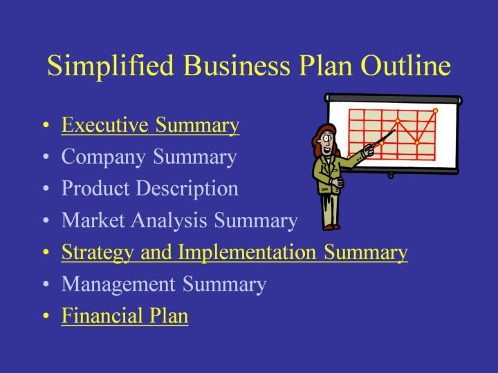 Simplified Business Plan Outline