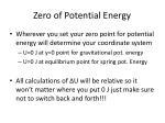 zero of potential energy