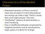 characteristics of hardboiled fiction