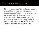 the detective character