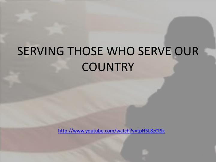 serving those who serve our country n.