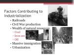 factors contributing to industrialization