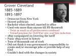grover cleveland 1885 1889 1893 1897
