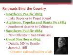 railroads bind the country