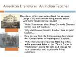 american literature an indian teacher