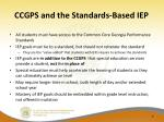 ccgps and the standards based iep