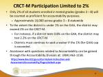 crct m participation limited to 2