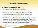 iep documentation1