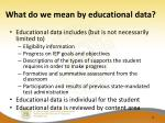 what do we mean by educational data
