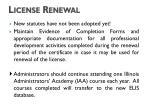 license renewal