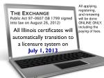 the exchange public act 97 0607 sb 1799 signed into law on august 26 2012