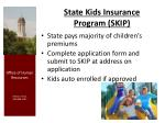 state kids insurance program skip