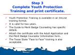step 3 complete youth protection training and print certificate