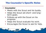 the counselor s specific roles
