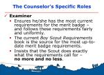 the counselor s specific roles2