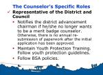 the counselor s specific roles3