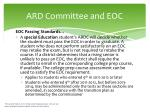 ard committee and eoc