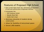 features of proposed high school1