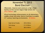 november 5 2013 bond election