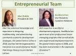 entrepreneurial team